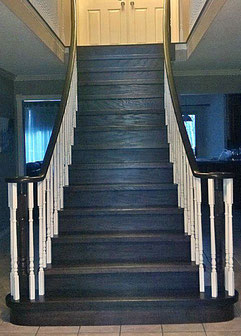 scarlett o'hara staircase after refinished