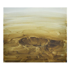Krater II, 35x40 cm, Öl auf MDF, 2017