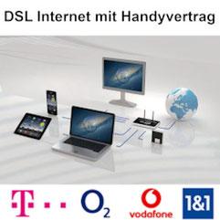 DSL Internet und Handyvertrag mit Smartphone