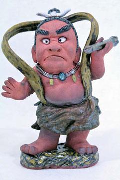 完成した金剛力士像の陶人形
