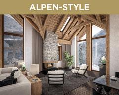 Ferienwohnung im Stil ALPEN-STYLE. Hier wohnen sie mit zeitlosen Farben und hochwertigen Materialien. Der elegante Stil ist kombiniert mit einer hochwertigen Inneneinrichtung und besticht mit einer klaren Optik.