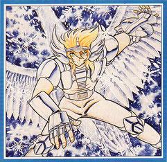 La madre de Hyôga fue inspirada por Ninja bugei-chô de Shirato Sanpei.
