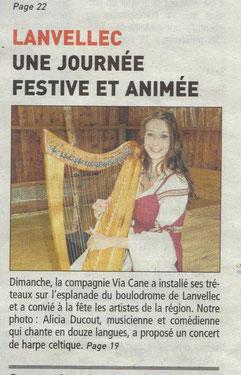 Alicia Ducout Harpe celtique concert
