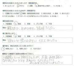 兵庫区 M様よりアンケート回答 マスタードリフォーム