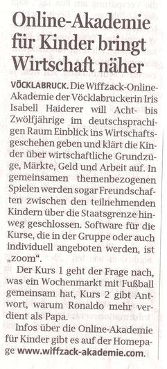 """""""Oberösterreichische Nachrichten"""", 21. Oktober 2020"""