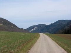 Blick von La Grosse Rin zur Roti Flus