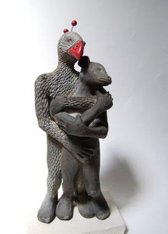 sculpture en cérmique raku de simplement terre
