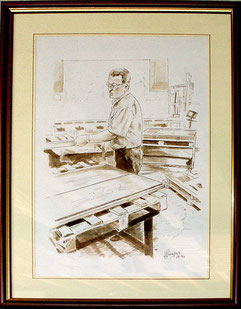 Il creatore della ditta Callegari Carpenteria a Maser - Treviso