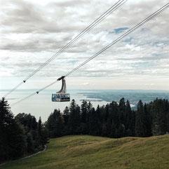 Der Pfänder bietet im Vorarlberg in Österreich den vermutlich schönsten Ausblick auf den Bodensee.