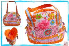 Shopper, Multitasche, Farbenmix, Bogentasche, Dots, Gepunktet, Tasche