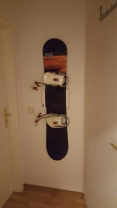 Wandhalterung Wandmontage Snowboard horizontal vertikal Halterung wall mount