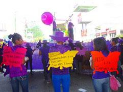 Demonstration, Misstände, Choloma, Honduras