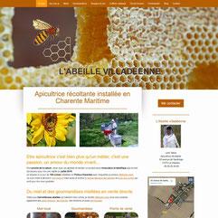 L'abeille villadéenne site créé en formation avec e-cime