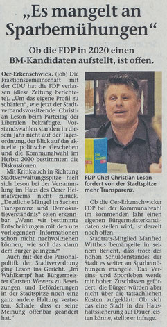 Artikel der Stimberg Zeitung vom 20.02.2019