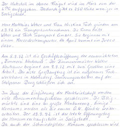Bild: Seeligstadt Chronok 1992