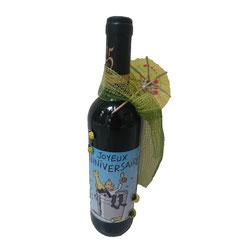Bouteilles de vin personnalisés