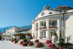 Merano's Kurhaus and the Passer Promenade