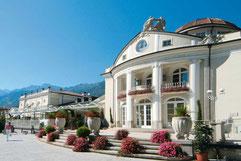 Merano's Kurhaus and the Passer Promenade