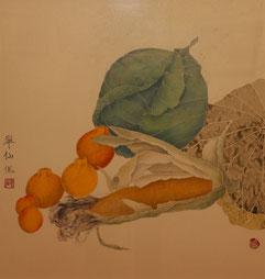 キャベツ ( 工筆画 ・650 x 730 )
