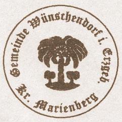 Bild: Gemeindesiegel Wünschendorf Erzgebirge Kreis Marienberg