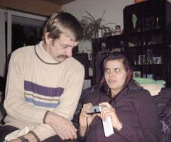 Dieter mit Antje 2002 bei Manu