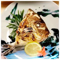 タイのカブト焼き(季節によります)