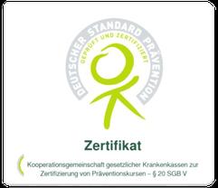 Zertifikat PMR-Kurs von Krankenkassen bezuschusst