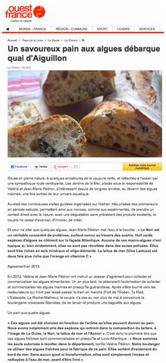 La baguette aux algues, ouest-france du samedi 5 avril 2014