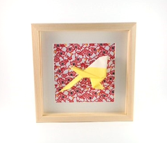 Cadre origami Mésange - Format 20x20cm - 34€