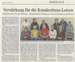 Artikel in der SZ Biberach, 15.3.2019