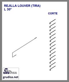 REJILLA LOUVER (TIRA) L 30 °  CORTE