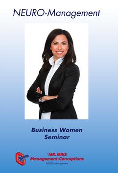 Flyer,Business,Women,Management,Neuromanagement,Mr.Mike Management,Seminar,Frau