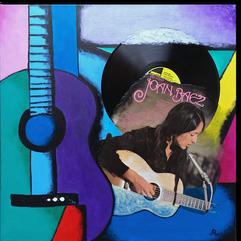 Gemälde, Leinwand, Kunst, art, Augenfreud, Original, Unikat, Acryl, Musik, Gitarre, Malerei, abstrakt, bunt, Collage, Schallplatte