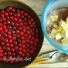 crumble cerise dessert diététique nutritionniste mulhouse recette nutrition