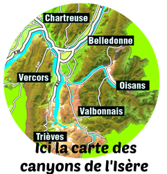 carte canyons de l'isère destination-canyon