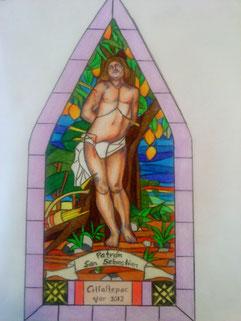 Boceto para Vitral Religioso