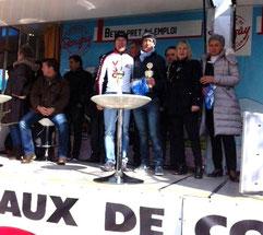Rémi (2ème) et Jean-Paul (1er) sur le podium