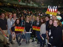 Volleyballgenuss pur und dazu tolle Stimmung. Team II (w) on Tour bei der EM.  Foto: W. Metschke