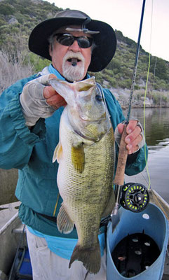 Largemouth Bass fly fishing San Diego Lake Barrett