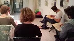 Le Crayon Nomade atelier modèle vivant Bordeaux