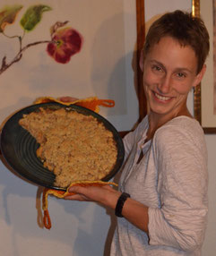 Bild: keramische Quicheform mit Quittengrambel