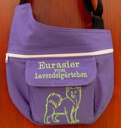 Gassi Tasche für Hunde in Baumwolle mit Eurasier