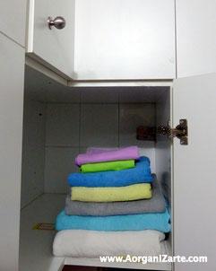Puedes guardar tus toallas de playa en un armario de menor acceso - AorganiZarte