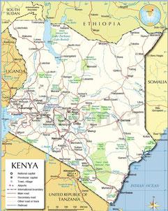 mappa parchi kenya in2kenya