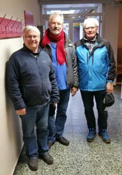 Uwe (Rang 2), Burkhardt (Rang 1), Wolfgang (Rang3)