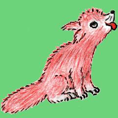 Der kleine Fuchs Regin (Buntstiftzeichnung)