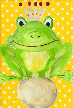 Grußkarte Froschkönig