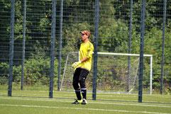 Tobias Beekmann, Keeper der zweiten Mannschaft verlebte einen überaus entspannten Nachmittag in Schonnebeck.