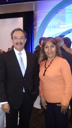 Un gusto conocer al Director General de Aspel de México Gilberto Sánchez Vázquez, presentes en el evento.