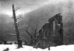 C.D. Friedrich, Klosterruine im Schnee